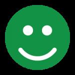grøn løsning - glad smiley i grøn