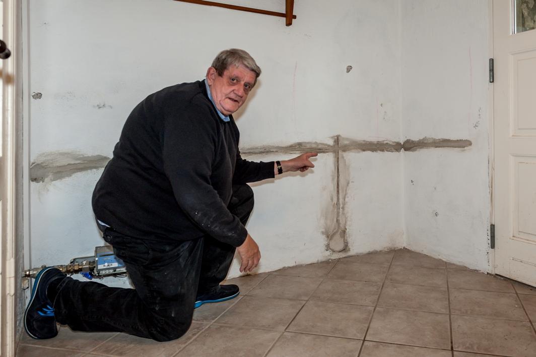 Installering af Drytechs system mod fugt i murværk